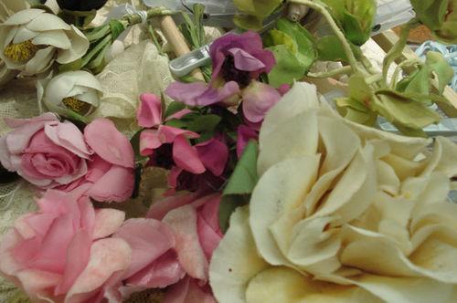 Portobello road_millinery flower closeup