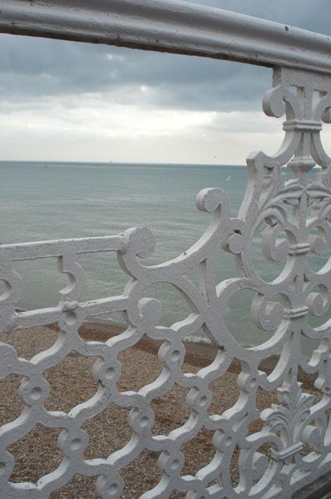 Brighton pier_iron railing