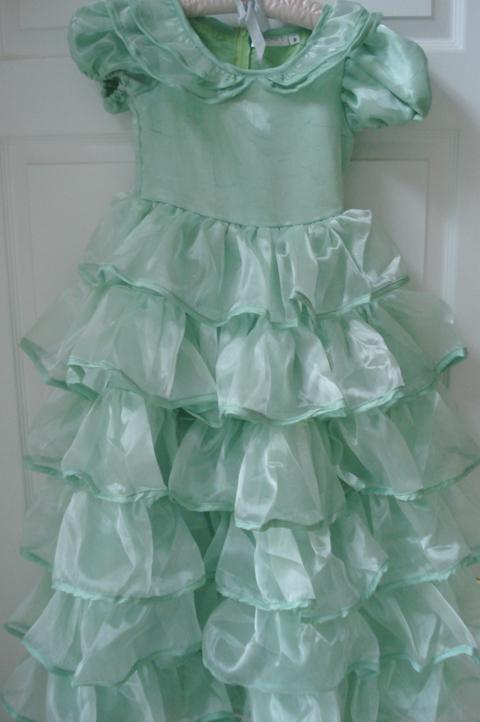 Mint green_ruffle dress