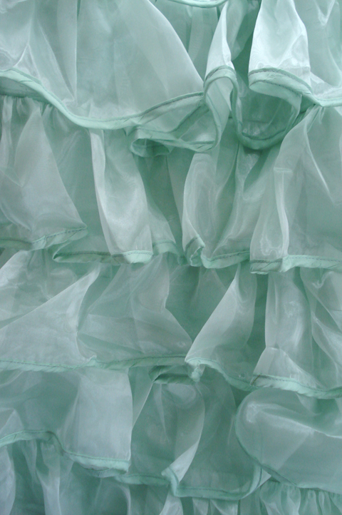 Mint green_ruffles