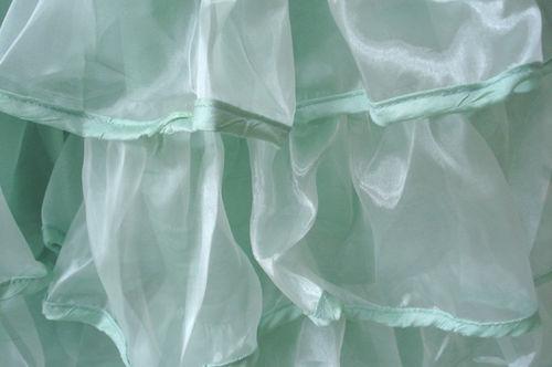 Mint green ruffle_closeup
