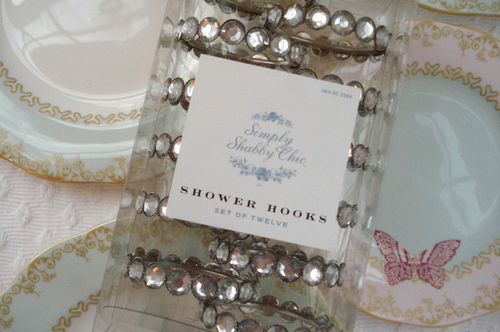 Target Tuesday Shower Hooks 1 They Are Rhinestone Curtain Rings From The Simply Shabby Chic