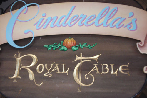 Cinderella's table_sign