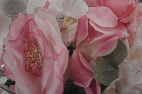 Floral hat closeup