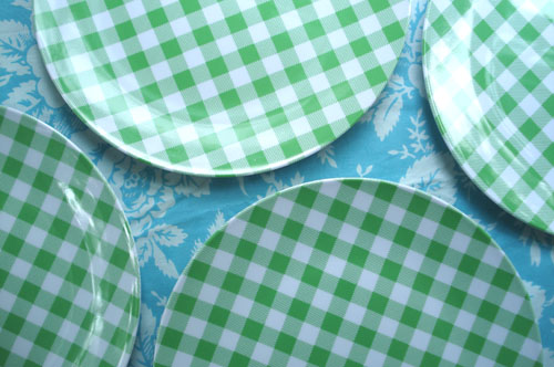 Green plates_blog_5 & Such Pretty Things: Target Tuesday: Gingham Dinnerware