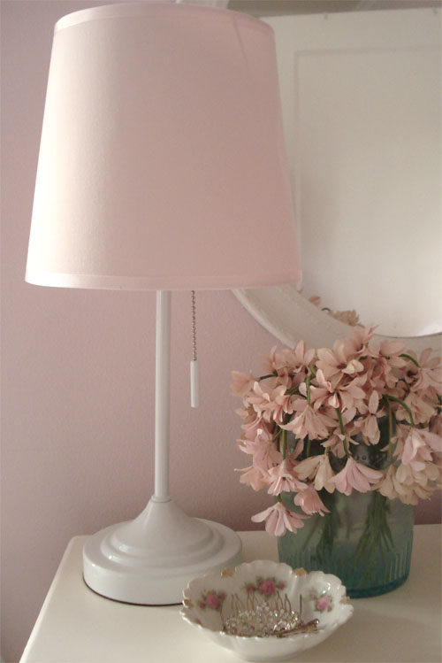 Such pretty things target tuesday tutu lamp it was a little too modern for my taste so i decided to embellish it a bit i have several very old lampshades with tulle ruffles around the shade base and aloadofball Image collections
