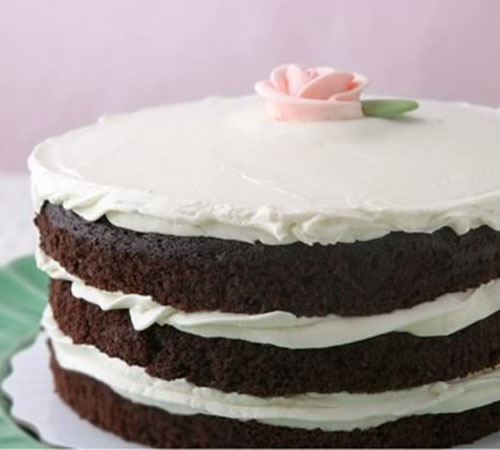 Miette cake with rose