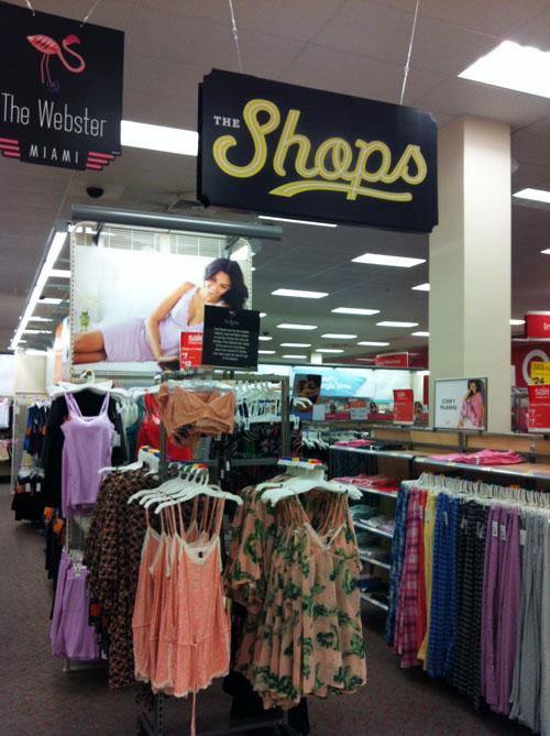 Target_the shops sign