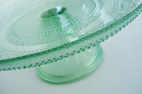 Green cake plate_6