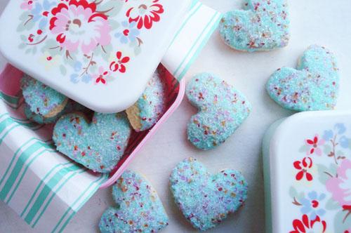 Aqua heart cookies_1