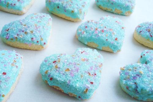 Aqua heart cookies_2