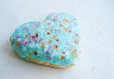 Aqua heart cookies_4