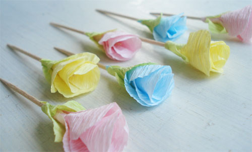 Such pretty things target tuesday crepe paper flower picks paper flower picks1 mightylinksfo