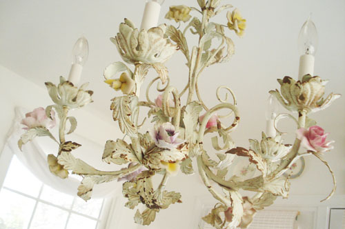 Rose chandelier_4 - Such Pretty Things: My New Old Chandelier