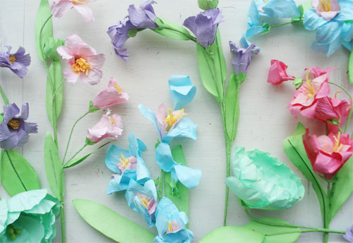 paper crafted flowers