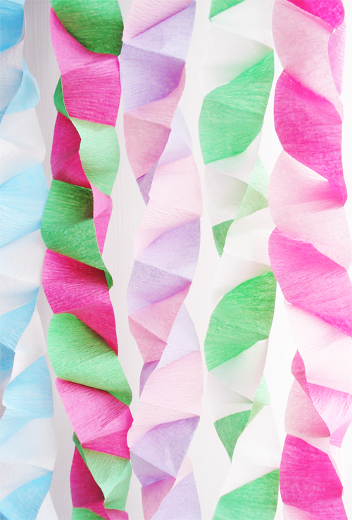 Spiral Streamers Diy Party Decor