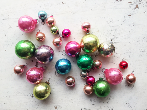 if you cant find vintage target also has tubes of adorable mini ornaments 16 for 1 - Christmas Ornaments Target