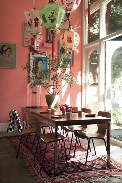 Bohemian modern_dining room lanterns